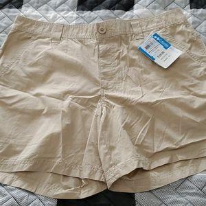NWT Columbia FLAT KHAKI shorts 36.